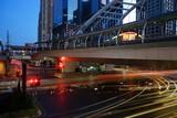 Traffic in bangkok at sunset time