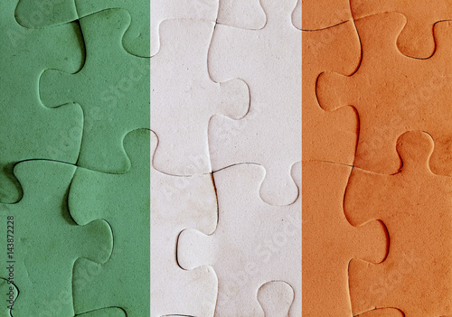 Poster Republic of Ireland flag puzzle
