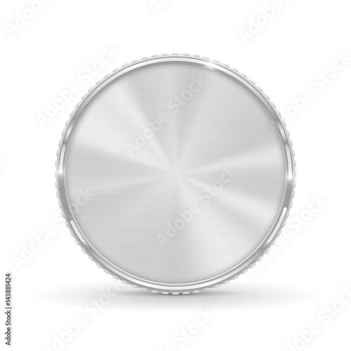 Srebrna moneta. Pusty okrągły medal