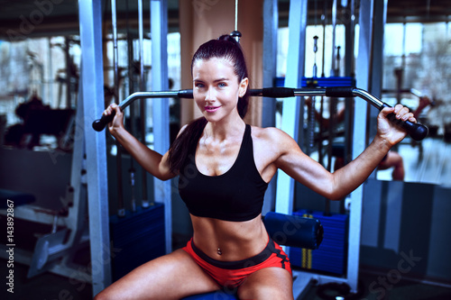 Fitness woman, trained body, fitness model .