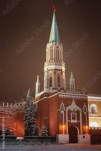 Poster View of Red Square at winter, Moscow, Russia.