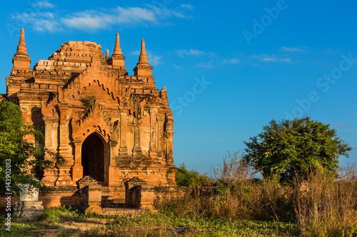 Poster skyline landscape of the historic capital city of Bagan Myanmar (Burma)