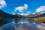 Lake Dove and Cradle mountain panorama landscape