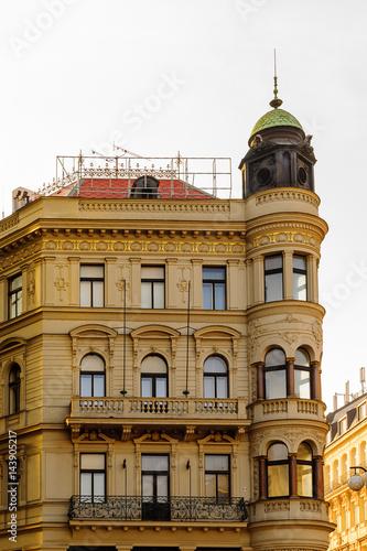 Poster Egypte Beautiful colorful architecture of Prague. Czech Republic