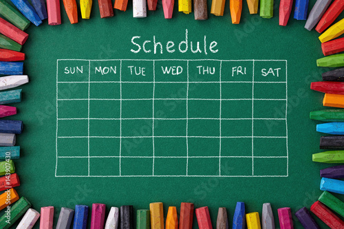 Schedule Canvas Print