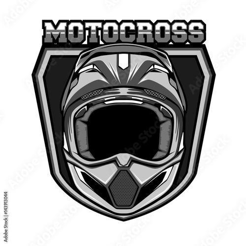 motocross helmet monochrome