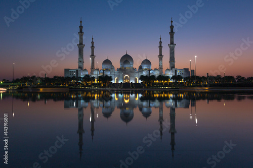 Fotobehang Abu Dhabi Sheikh Zayed Grand Mosque