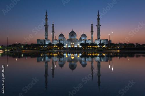 Foto op Canvas Abu Dhabi Sheikh Zayed Grand Mosque