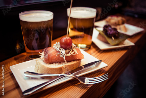 Papiers peints Madrid Pintxos
