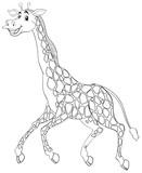 Animal outline for giraffe running