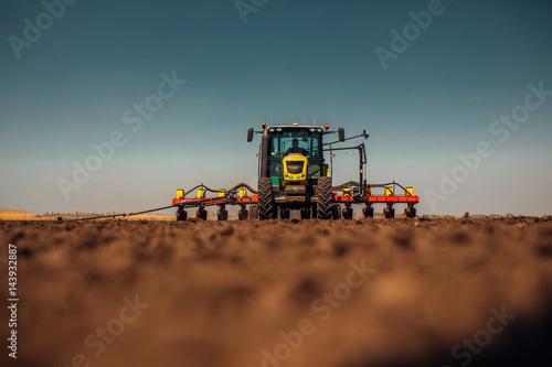 Plakat Preparing farm land for next year