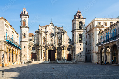 Spoed canvasdoek 2cm dik Havana Kuba - Havanna - Plaza de la Catedral
