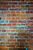 Old wall of red bricks, vintage texture