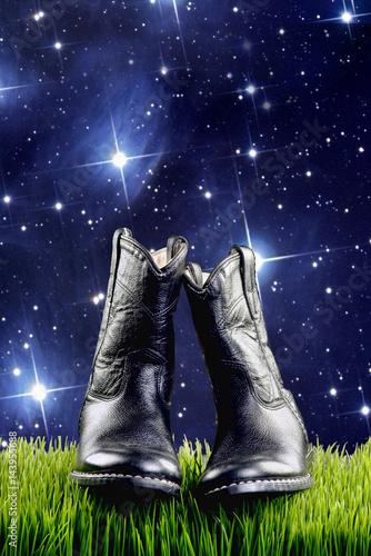 Cowboy Boots at Night. Poster