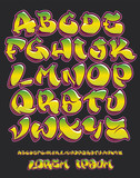 Fototapeta Teenage - Graffiti alphabet- Hand written - Vector font © Photojope