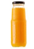 bottle of orange juice isolated on white background