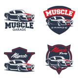 Vintage American muscle car