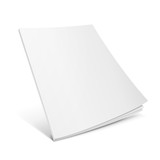 Fototapety Blank Flying Cover Of Magazine, Book, Booklet, Brochure. Illustration Isolated On White Background. Mock Up Template Ready For Your Design. Vector EPS10