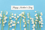 Happy Mother's Day,  Greeting Card,  with Lily of the Valley Flowers