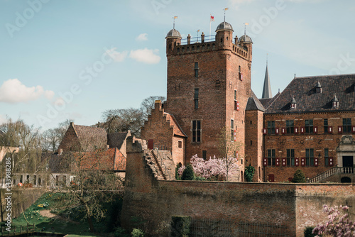 Ancient dutch castle with watchtower Poster