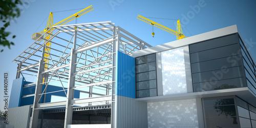 Obraz na płótnie Steel construction - v2