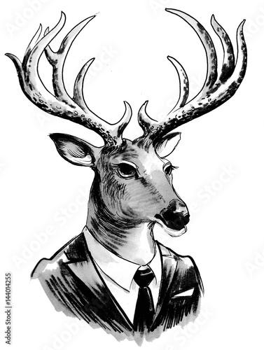 Deer in suit - 144014255