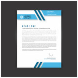 Fototapety Corporate identity set or kit for your business. Letter templates. Vector format, editable, place for text