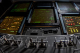 spaceship control panel mission to moon and mars