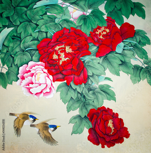 Plakat Chinese traditional painting of birds