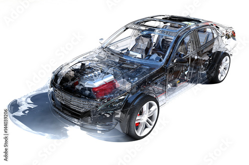 Aluminium Auto Transparent model cars.