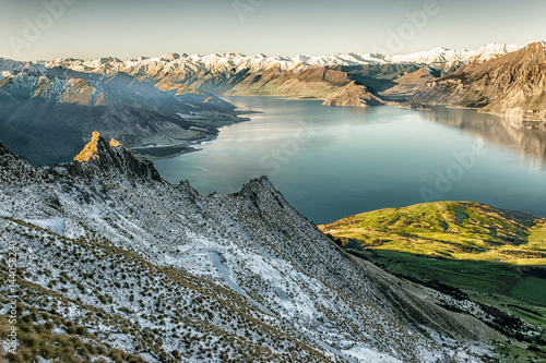 Lake Hawea from Isthmus Peak track, Wanaka, New Zealand Poster