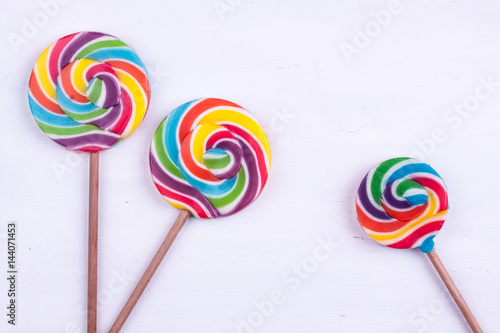 Lollipops on a white background Poster