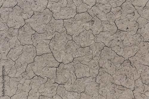 trockener Boden mit Rissen Trockenheit Textur Poster