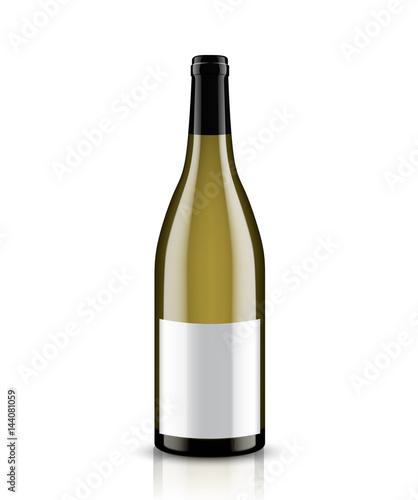 Mockup wine bottle. vector design.