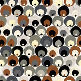 seamless background pattern, with circles, dots, strokes and splashes
