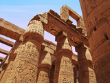 The remains of columns in Karnak Temple in Luxor, Egypt