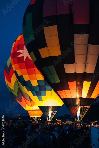 Hot Air Balloons Launch at Dawn Poster