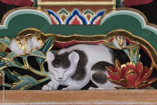 Papiers peints Graffiti 眠り猫 日光東照宮,世界遺産