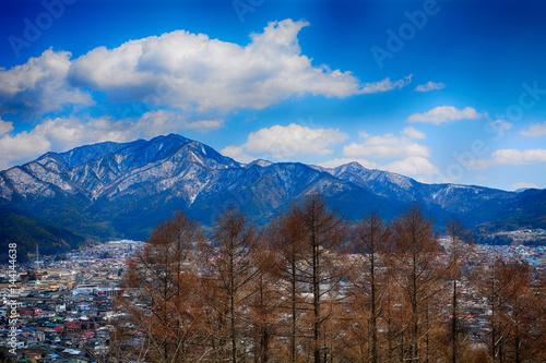 View of the city, Fujiyoshida, Japan Poster
