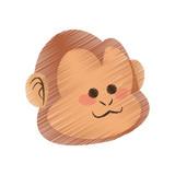 monkey cartoon icon image vector illustration design
