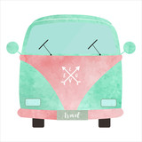 WATERCOLOR LOVE VAN