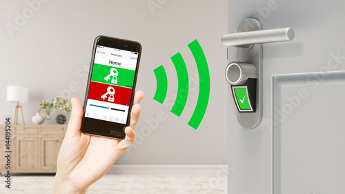 Smart Home mit Smart Lock Tür