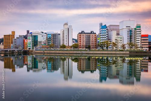 Hiroshima, Japan Cityscape Poster
