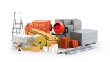 materials for construction. 3D illustration