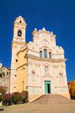 Baroque church of St. John in the medieval village Cervo, Liguria region, Italy