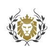 Logo Golden Wreath King Lion 11 Shield Icon