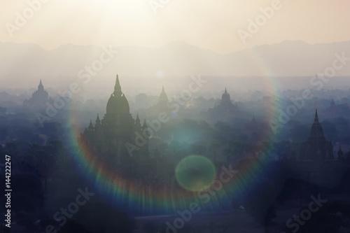 Amazing sunset around Burma