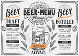 Beer menu restaurant, drink template. - 144225846