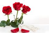 Three red roses - 144231894