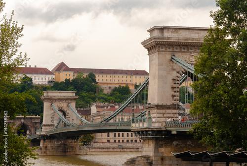 Poster Chain Bridge Budapest